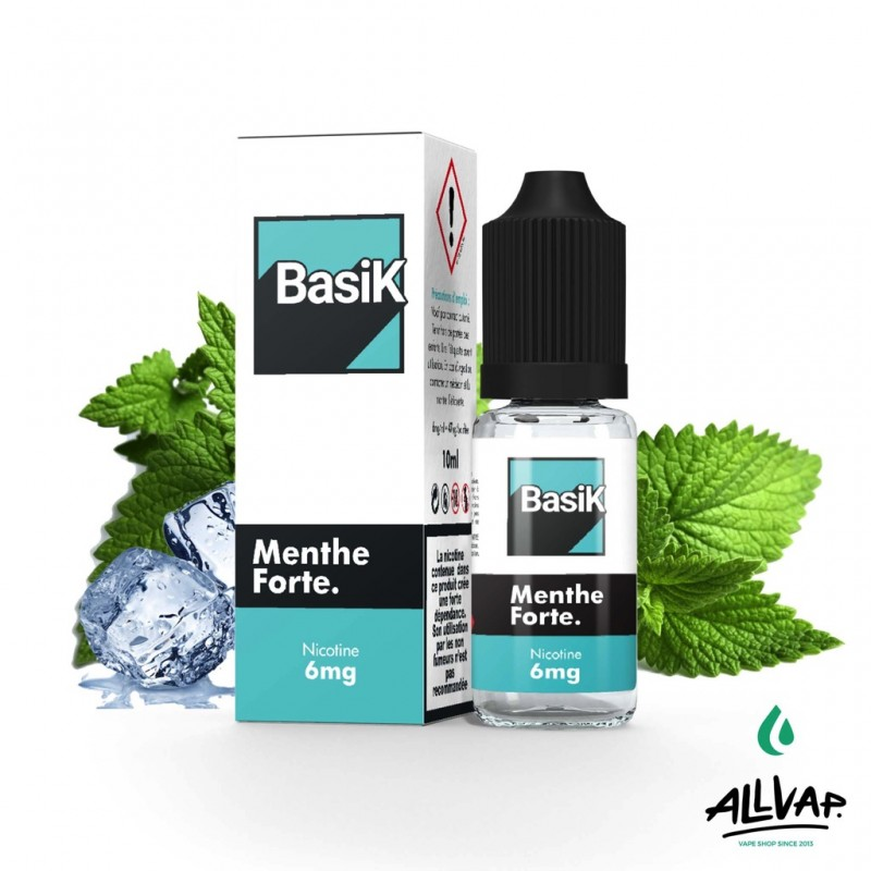 Le e-liquide Menthe Forte de chez Basik