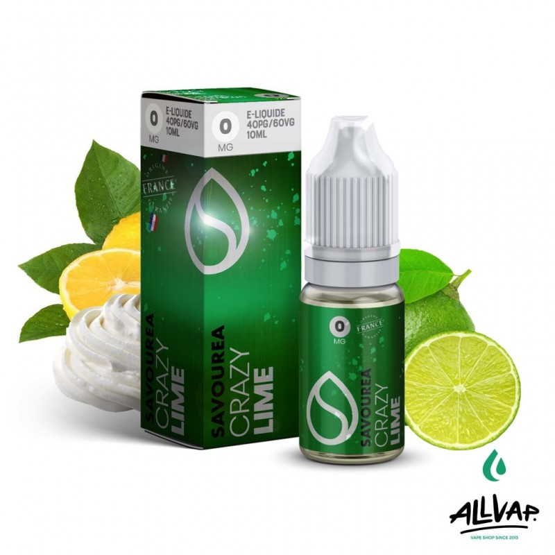 Le e-liquide Lime de chez Crazy