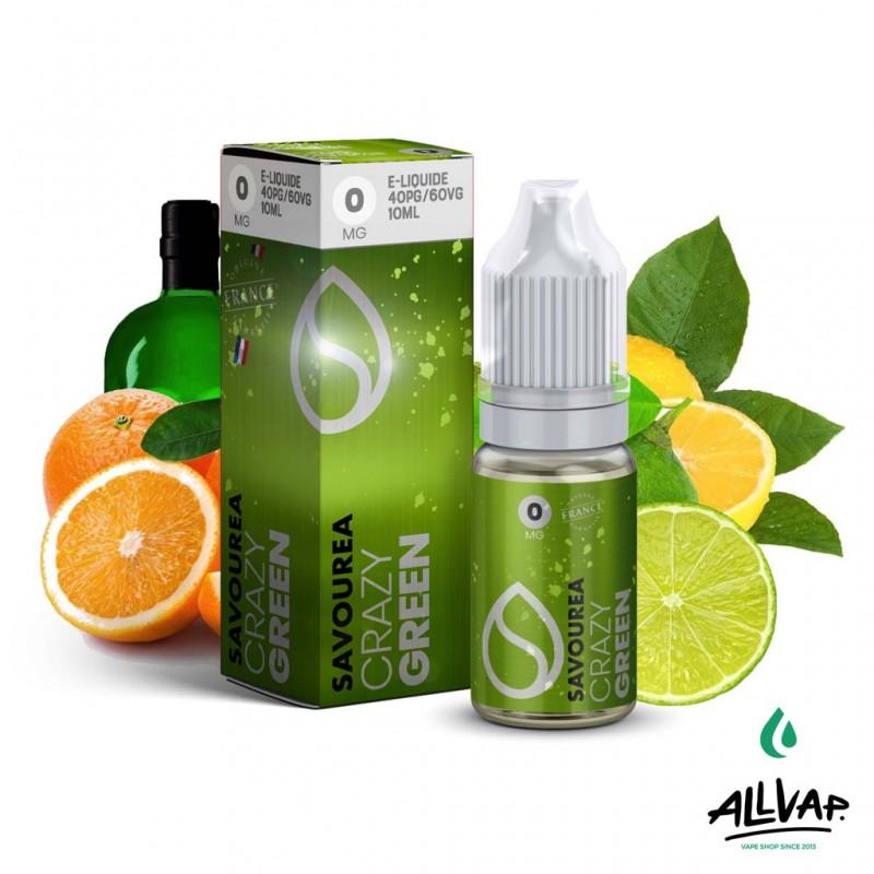 Le e-liquide Green de chez Crazy
