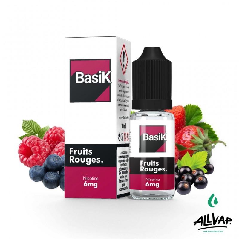 Le e-liquide Fruits Rouges au sel de nicotine de chez Basik