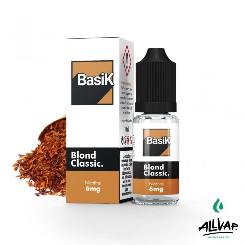 Le e-liquide Blond Classic au sel de nicotine de chez Basik