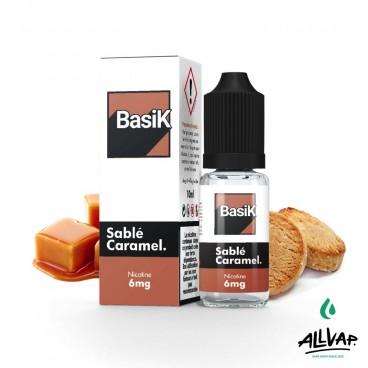 Le e-liquide Sablé Caramel au sel de nicotine de chez Basik